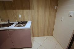 キッチン冷蔵庫置場
