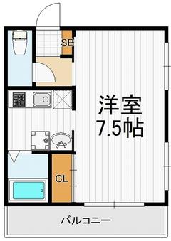 24平米1K406号室(契約済)の画像