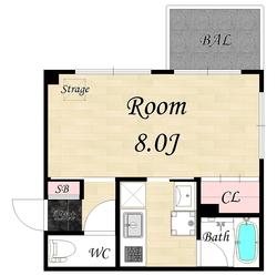 24平米1K107号室(契約済)の画像